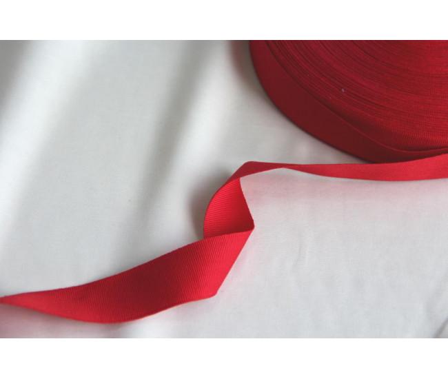 Репсовая тесьма ,ширина 3,0см,  цвет красный