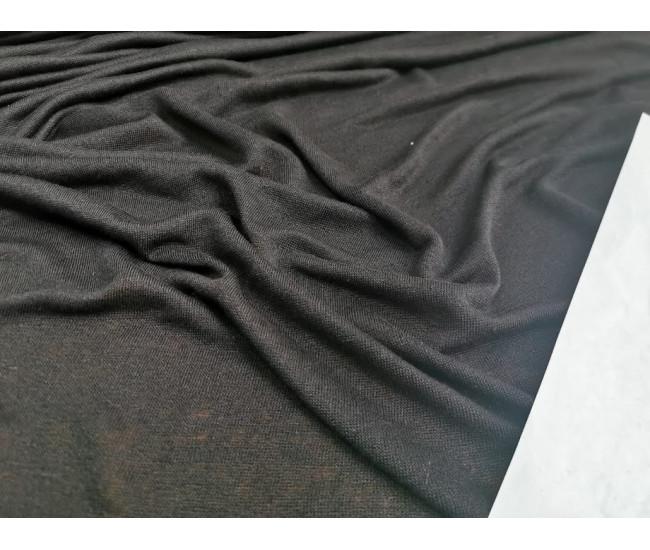 Льняной трикотаж. Цвет  черный.