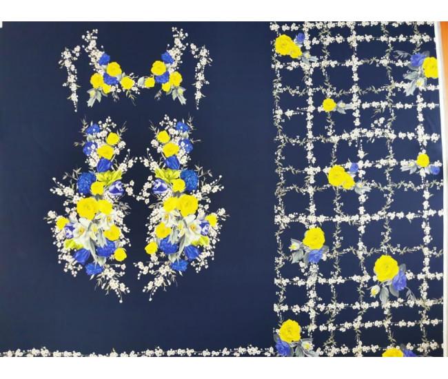 Плательно-блузочный вискозный креп с печатью Elisa Fanti
