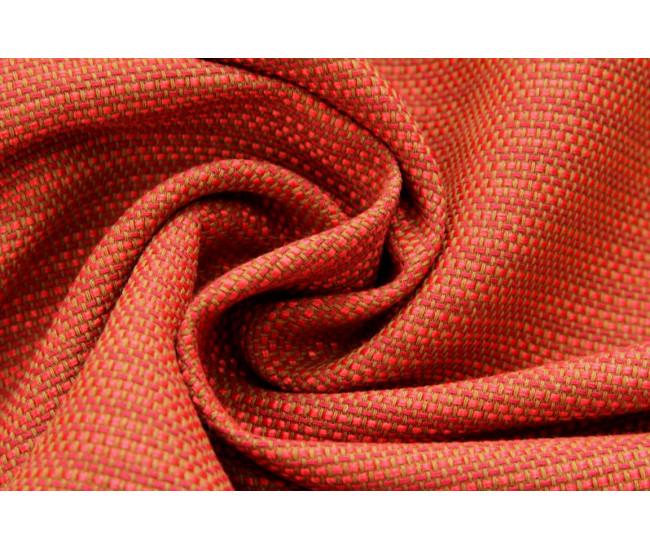 Костюмно-плательная ткань-шанель,  цвет коралл-охра