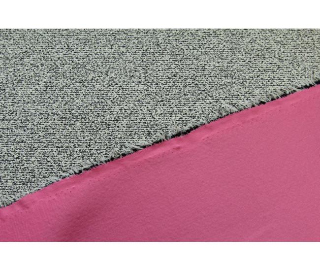 Костюмно-плательная ткань продублированная трикотажем