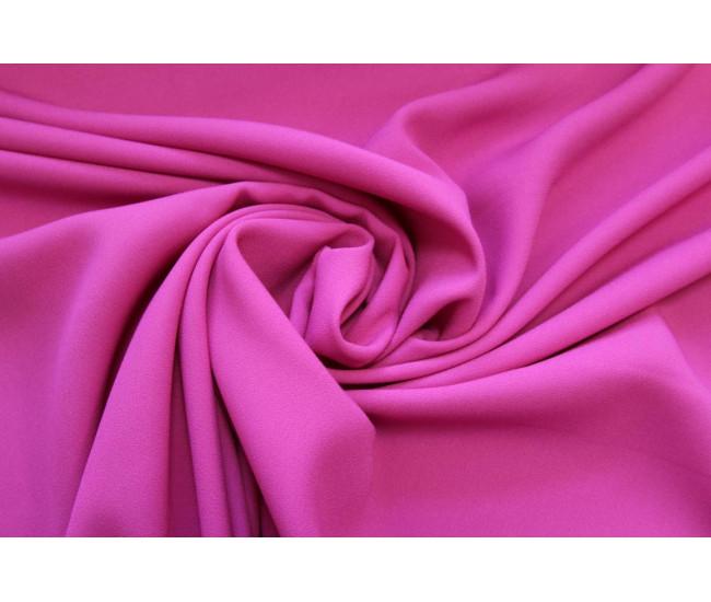 Плательный тяжелый креп-атлас,  цвет пурпурно-розовый