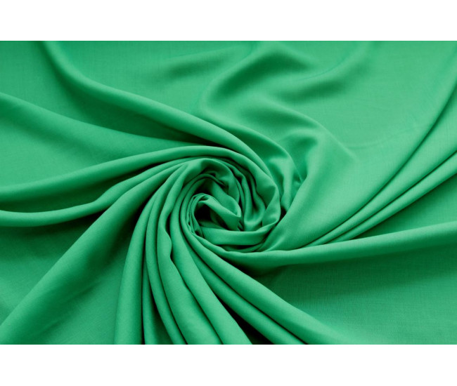 Плательно-блузочная тонкая вискоза,  цвет зеленый