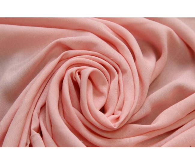 Плательно-блузочная тонкая вискоза,  цвет теплый розовый