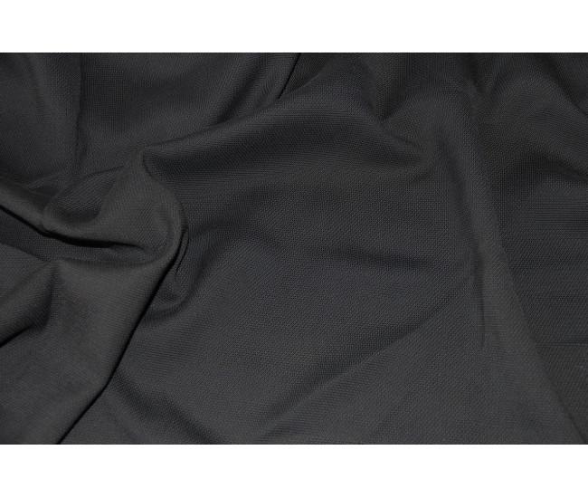 Костюмно-плательная фактурная  ткань    Цвет черный.