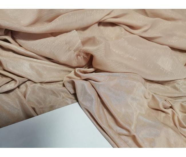 Шелковистый трикотаж цвет пудра, отрез 2,15м