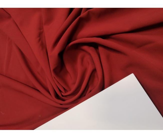 Костюмно-плательный креп,  цвет красный терракот,  Остаток 1,85м