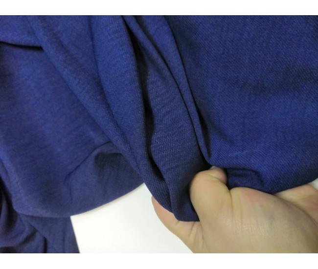 Фактурная блузочно-плательная ткань, с лёгким жатым эффектом,  цвет синий,   отрез 6.1м
