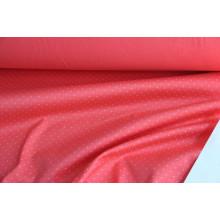 Компаньон костюмно-плательный хлопок стрейч  цвет коралловый  в мушку цвета серебро