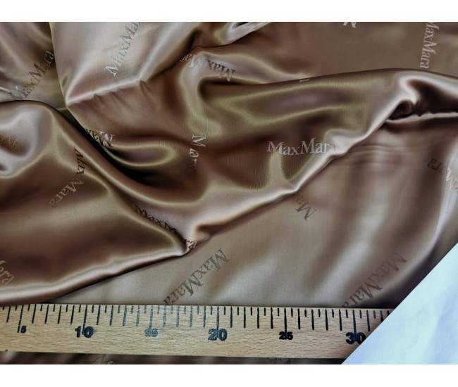 Подкладочная жаккардовая ткань MAX MARA  ,  цвет бежево-песочный.