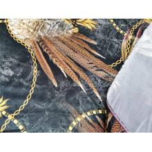 Плательно-блузочный вискозный шелк с печатью Roberto Cavall