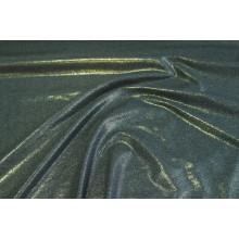 Хлопковый футер с золотым напылением,изнанка петля,  цвет серый меланж