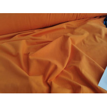Хлопковый футер изнанка петля  цвет оранжевый
