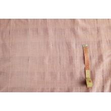 Плательно-блузочная марлевка-крэш с метанитью ,цвет пудра  Остаток 2,15м