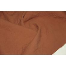 Костюмная двухслойная ткань,слои разделяются, (лен 50%,хлопок 50%), цвет терракот