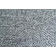 Льняная органза с фактурой имитация сетки,  цвет  бежево-серый
