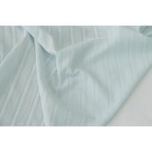 Блузочно-плательный хлопок с фактурными полосками вдоль кромки.    Цвет голубой.