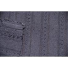 Блузочно-плательный хлопок с фактурными полосками вдоль кромки.    Цвет чернильный.