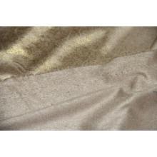 Экозамша с золотым напылением.   Цвет песочный.