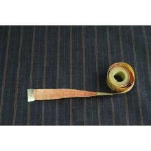 Костюмно-плательная  шерсть Lora Piana,   цвет графит в горчичную  полоску