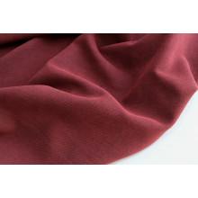 Костюмно-плательная  двусторонняя ткань стрейч,  цвет черно-бордовый
