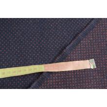 Пальтовая двусторонняя ткань,   цвет терракот-темно-синий