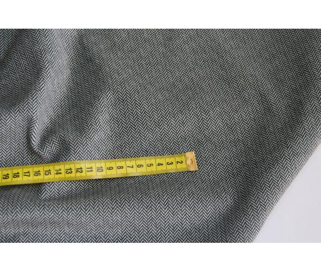 Шикарный хлопковый велюр с печатью в елочку (фабрика Cotonificio Albini)