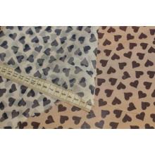 Натуральный шелковый шифон с печатью