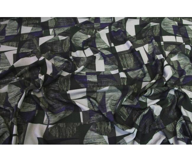 Плательно-блузочная  вискоза,   фактура  креп,фон оливково-серый